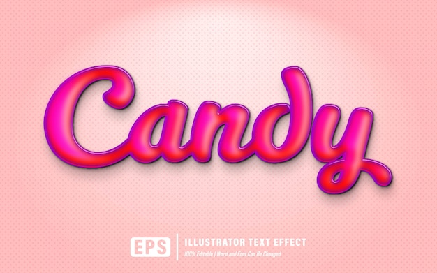 Candy text effect - editable
