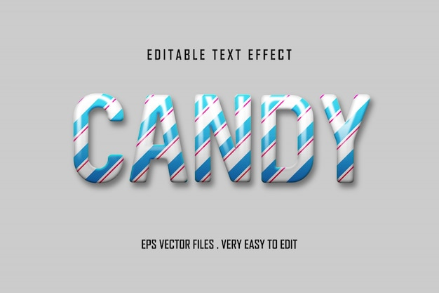 Candy - text effect premium , editable text