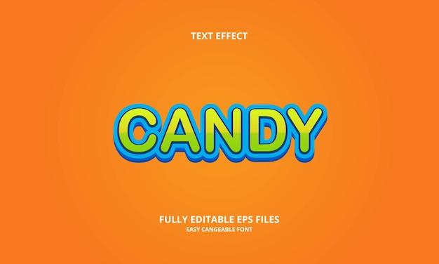 Текстовый эффект конфеты