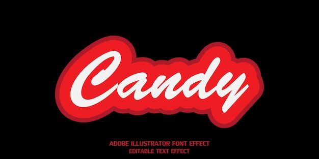 Candy text style effect editable