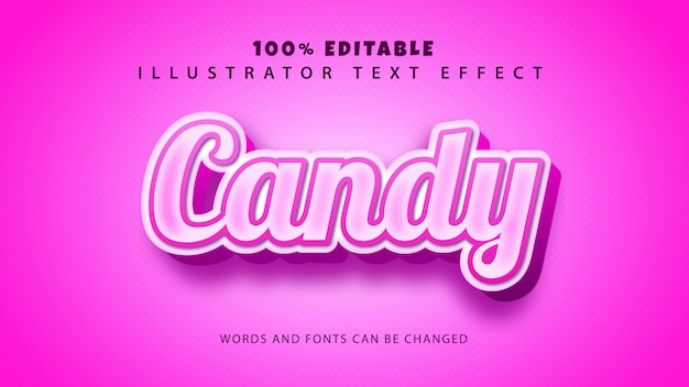 Candy text style effect,editble text