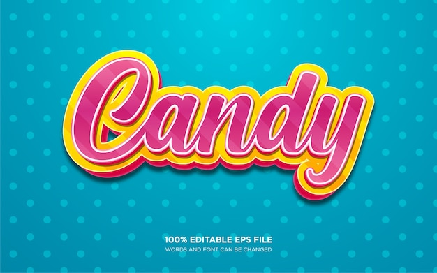 Candy text style effect