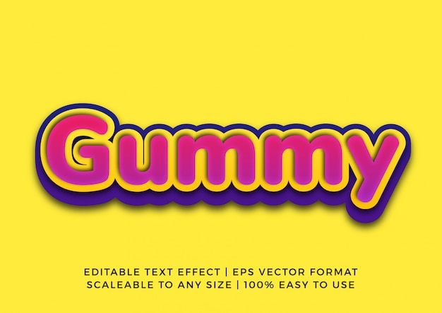 Текстовый эффект candy vibrant kids