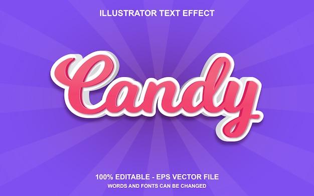 Редактируемый текстовый эффект candy