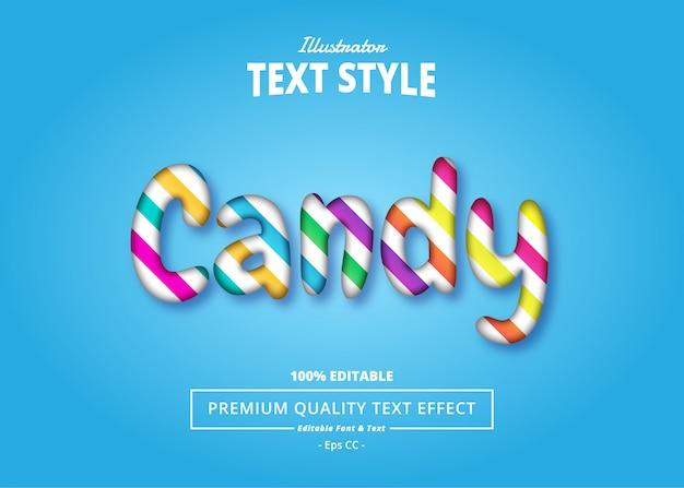 Текстовый эффект candy