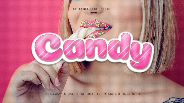 Candy редактируемый текстовый эффект