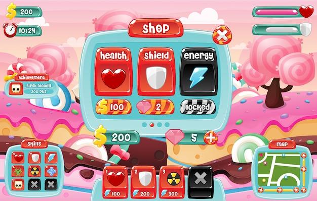 Пользовательский интерфейс candyland game