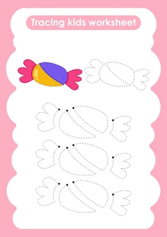 Candytraceは、子供向けの練習用ワークシートを作成および描画します。
