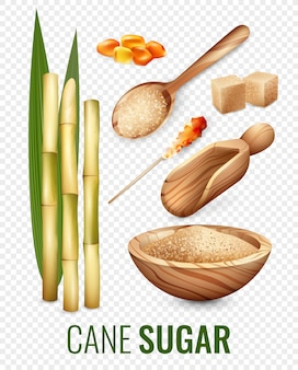 Cane sugar transparent set