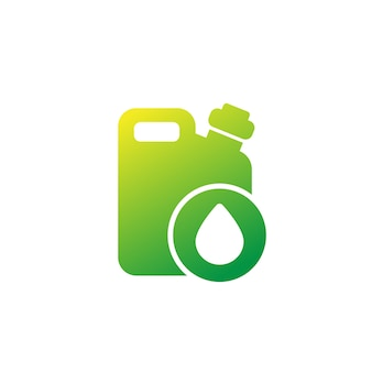 Canister icon with oil drop on white