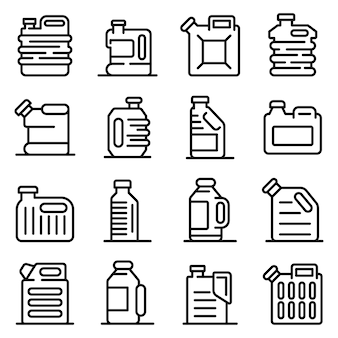 Canister icons set
