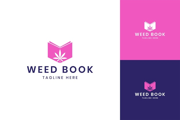 大麻本のネガティブスペースのロゴデザイン