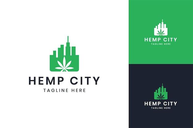 大麻市のネガティブスペースのロゴデザイン