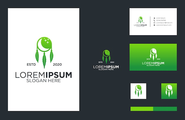 Cannabis and dream logo and business card design