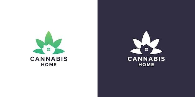 Cannabis home logo design