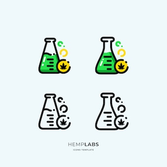 Cannabis labs icons