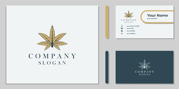 Cannabis leaf logo design for corporate and medical