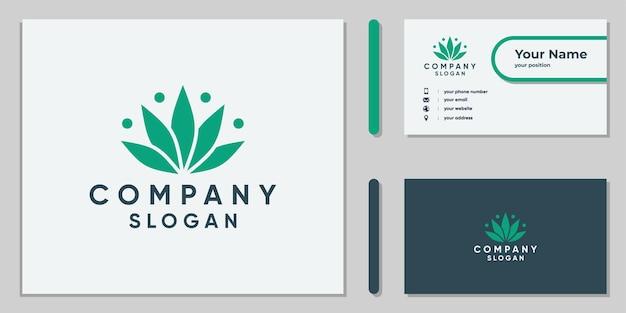 기업 및 의료용 대마초 잎 로고 디자인