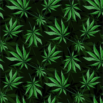 Cannabis leaves seamless pattern