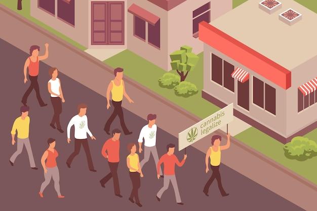 대마초 합법화 항의 그림