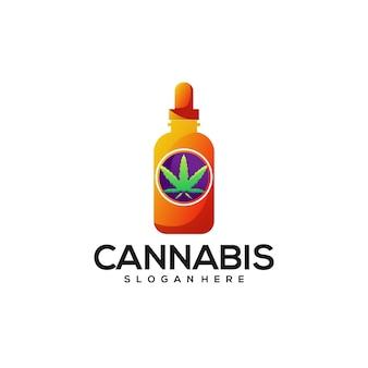 Красочный градиент логотипа каннабиса