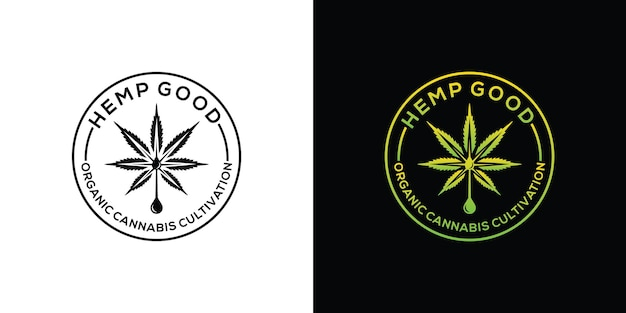 大麻マリファナ麻cbdロゴ