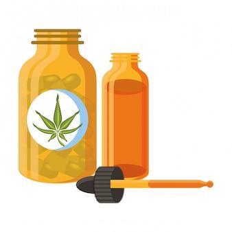 Cannabis martihuana sativa hemp cartoon