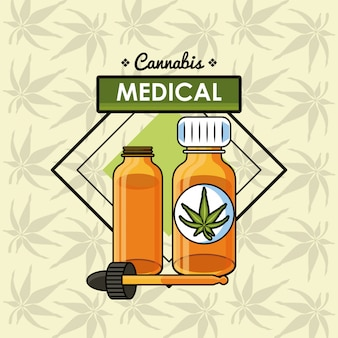 Cannabis medical concept