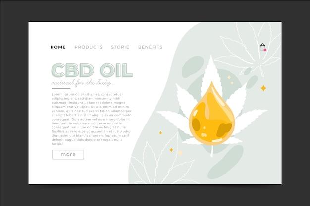 Modello di home page di olio di cannabis