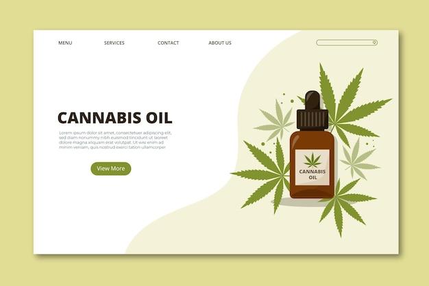 大麻オイルのランディングページテンプレート