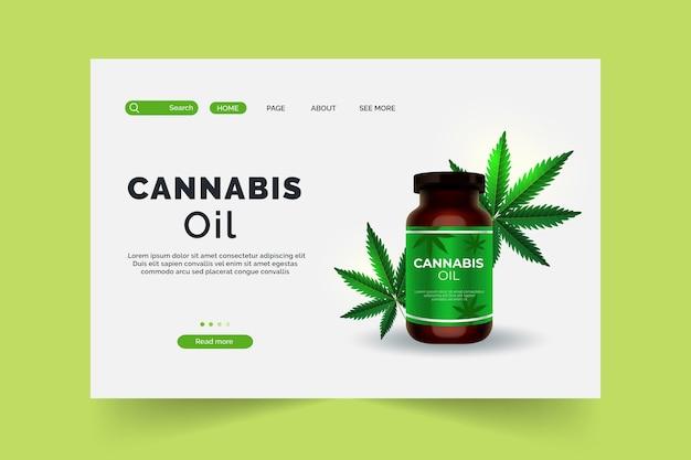 大麻オイルのランディングページ