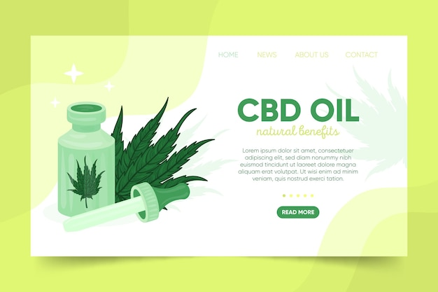Cannabis oil - landing page