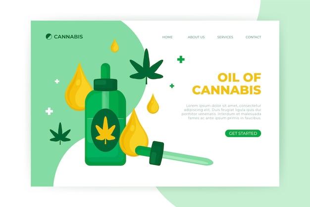 Cannabis oil web template