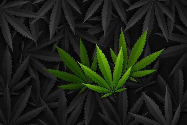 Фон каннабиса или марихуаны.