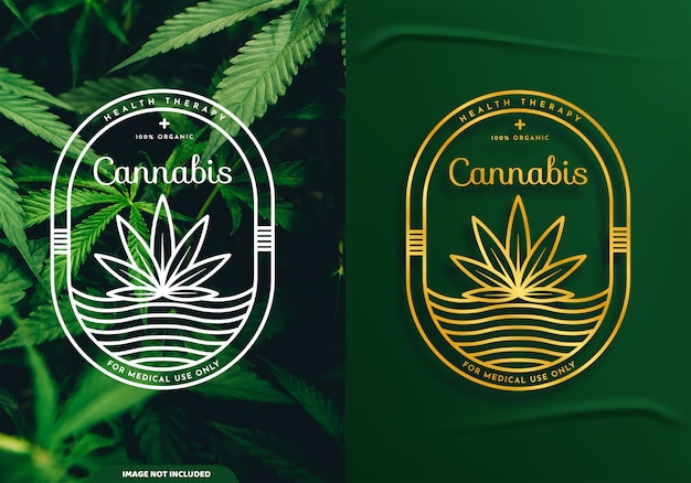 Cannabis outlined logo