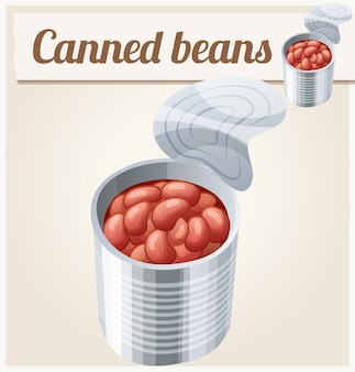 Canned beans. detailed   icon.