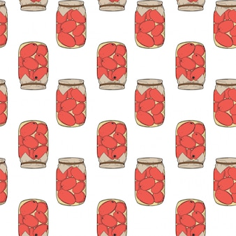 Canned tomatoes preserve.