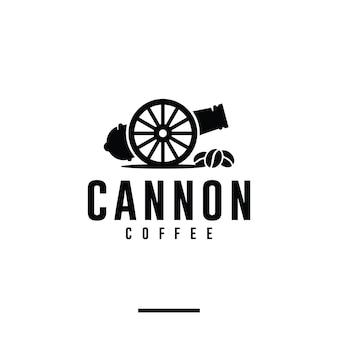 キャノンコーヒー、ショップ、ロゴデザインのインスピレーション