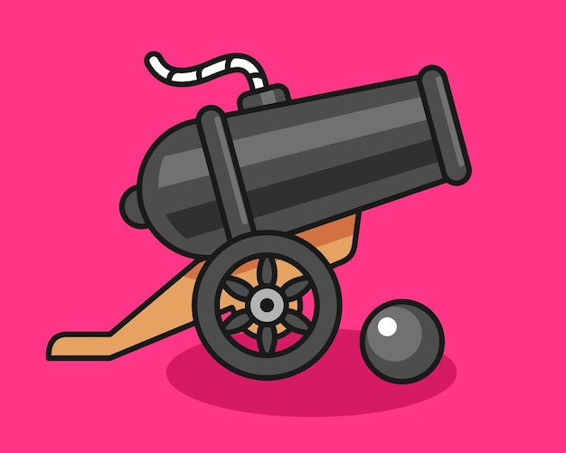 Cannon cute illustration design