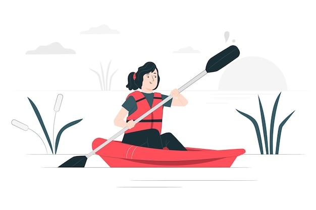 카누 개념 그림