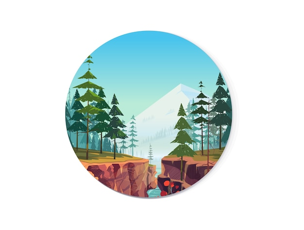 Canyon background, nature landscape