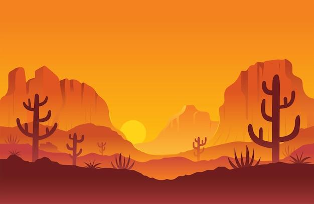 Гора каньон на фоне заката или восхода солнца пейзаж