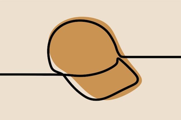 Cap wear oneline continuous line art