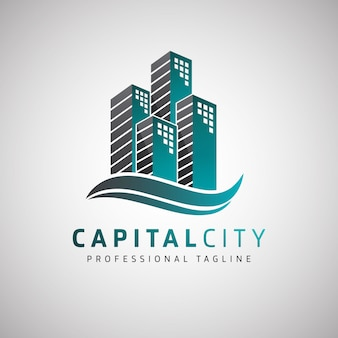 Capital city real estate logo