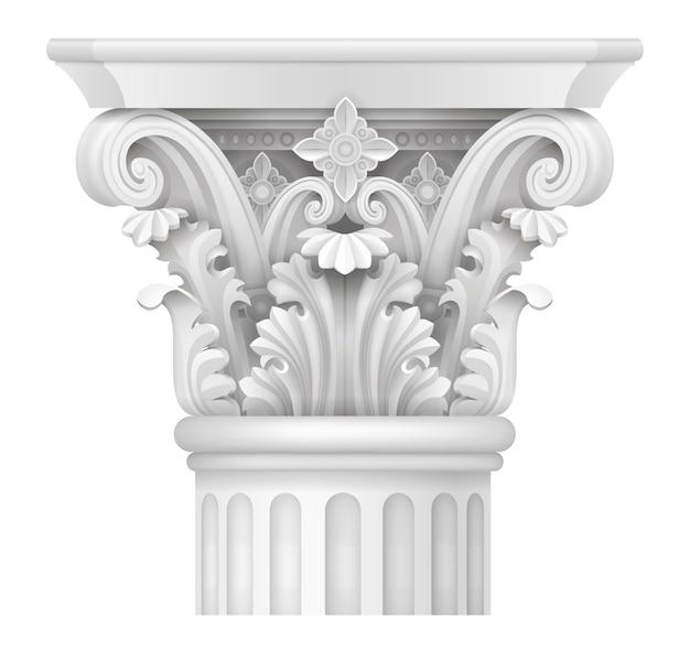 Capital of corinthian column