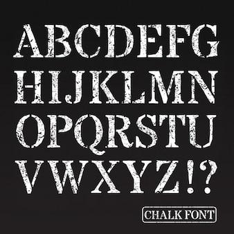 Capital letters chalk font