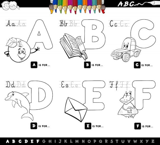Capital letters educational set for children