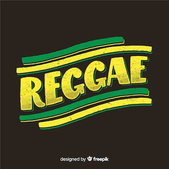 Capital letters text reggae background