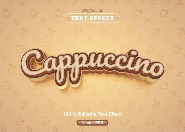 Редактируемый текстовый эффект капучино