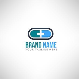 Capsule medical pharmacy logo